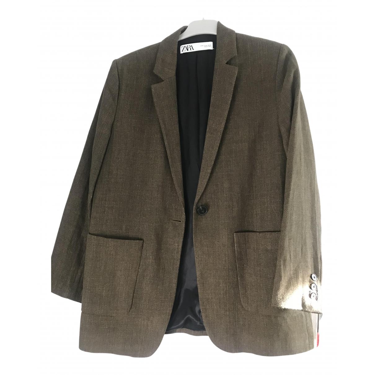 Zara \N Khaki Cotton jacket for Women 40 FR