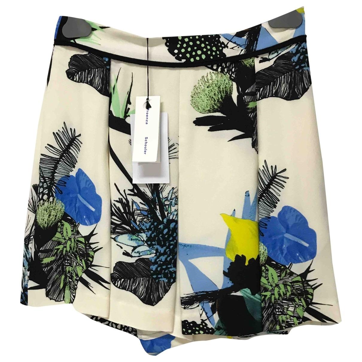Proenza Schouler \N Beige Silk Trousers for Women 4 US