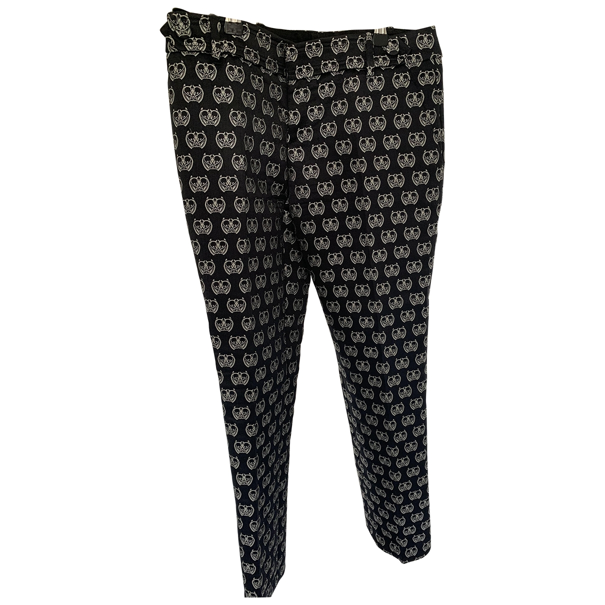 Gucci \N Black Cotton Trousers for Women 40 IT