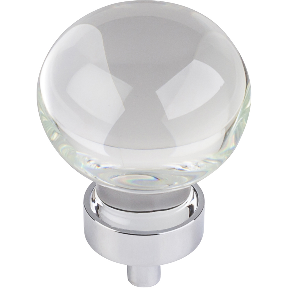 Harlow Large Sphere Glass Knob, 1-3/8