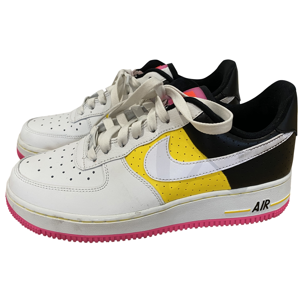 Nike Air Force 1 White Leather Trainers for Women 5 UK