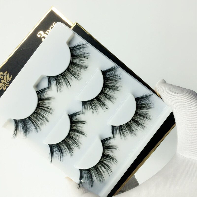 3D False Eyelashes Soft Fluffy Thick Handmade Full Strip Lashes Eye Makeup Extension Tools