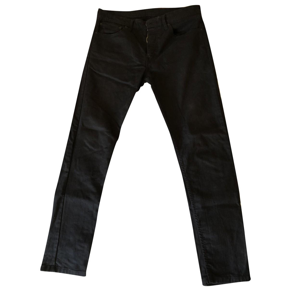 Levi's 512 Black Cotton - elasthane Jeans for Men 34 US