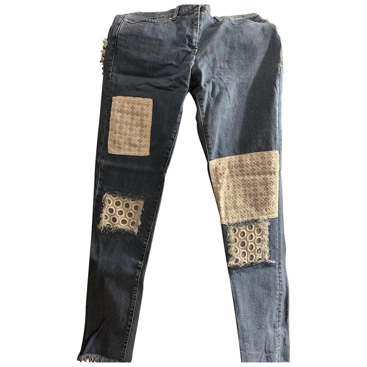 House Of Holland \N Blue Cotton Jeans for Women 38 FR