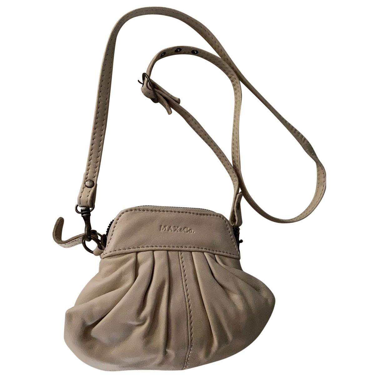 Max & Co \N Beige Leather handbag for Women \N