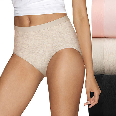 Hanes Ultimate Constant Comfort X-Temp 3 Pack Knit Brief Panty 40xtb5, 9 , Pink