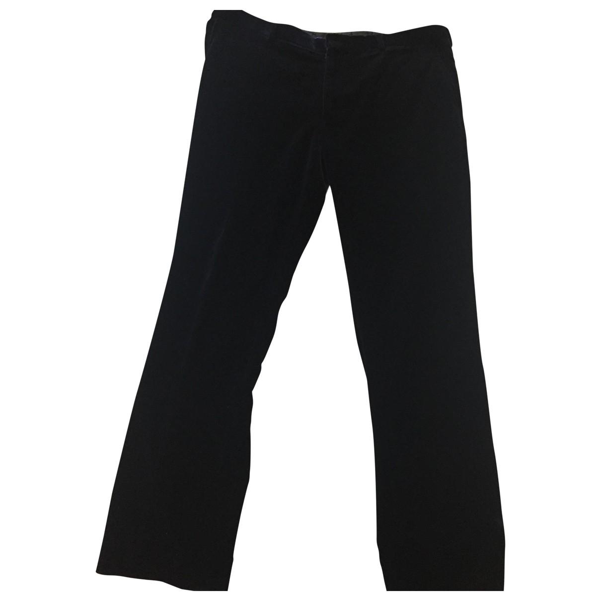 Ralph Lauren Purple Label \N Navy Velvet Trousers for Men 38 UK - US