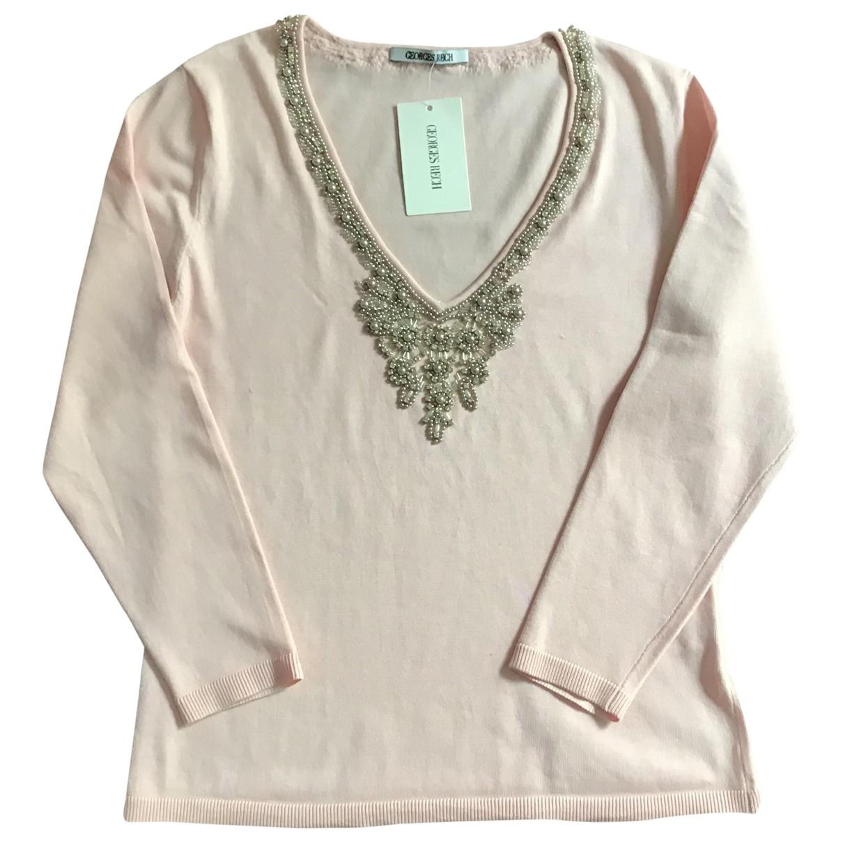 Georges Rech \N Pink Silk  top for Women 40 FR