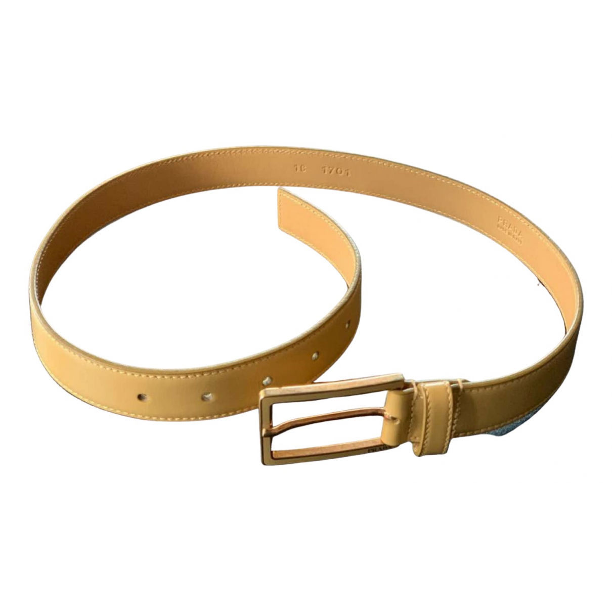 Prada \N Beige Leather belt for Women 70 cm