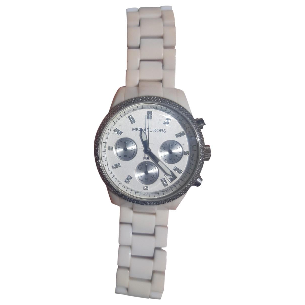 Michael Kors \N White Steel watch for Women \N