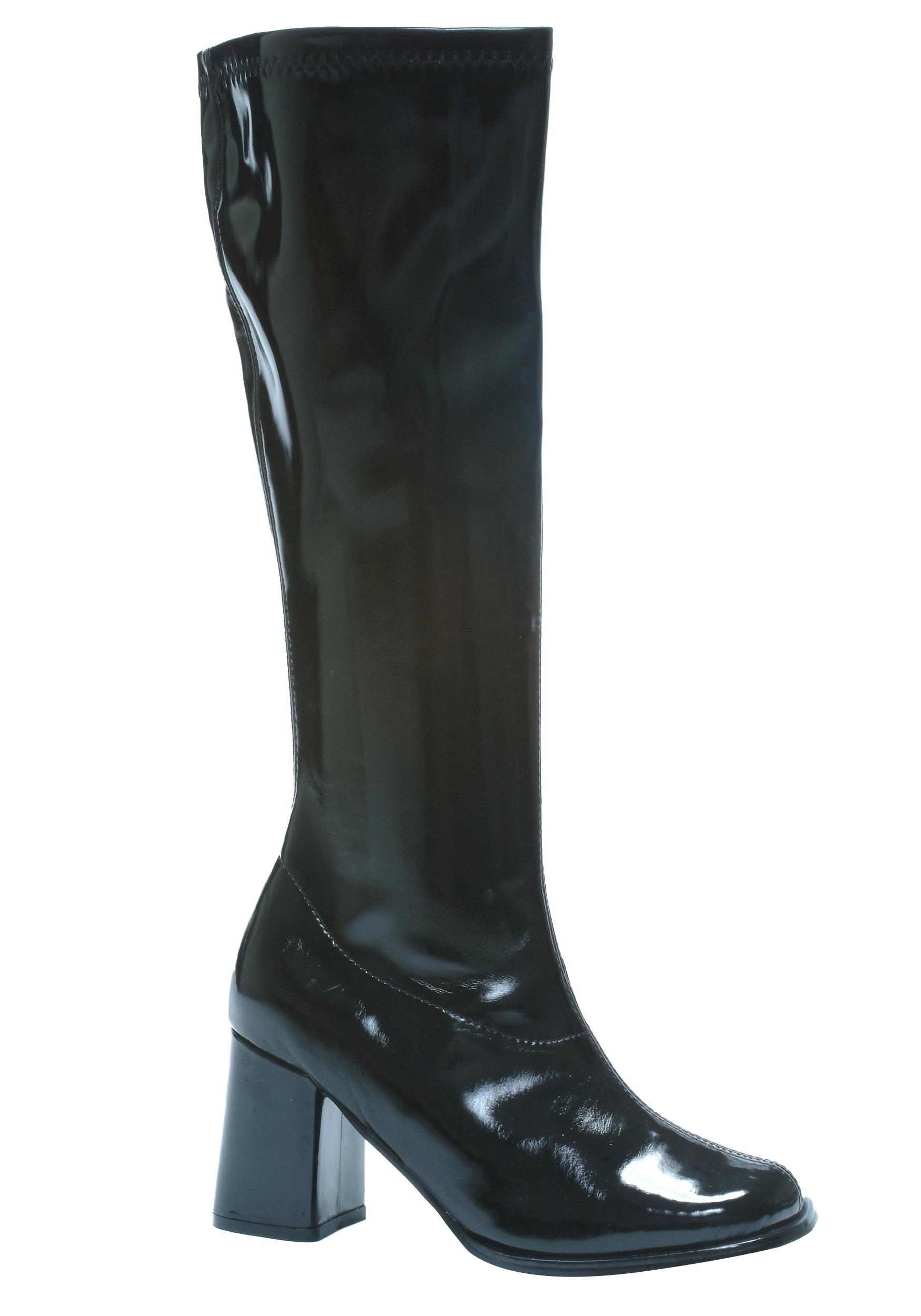 Black Gogo Costume Boots For Women