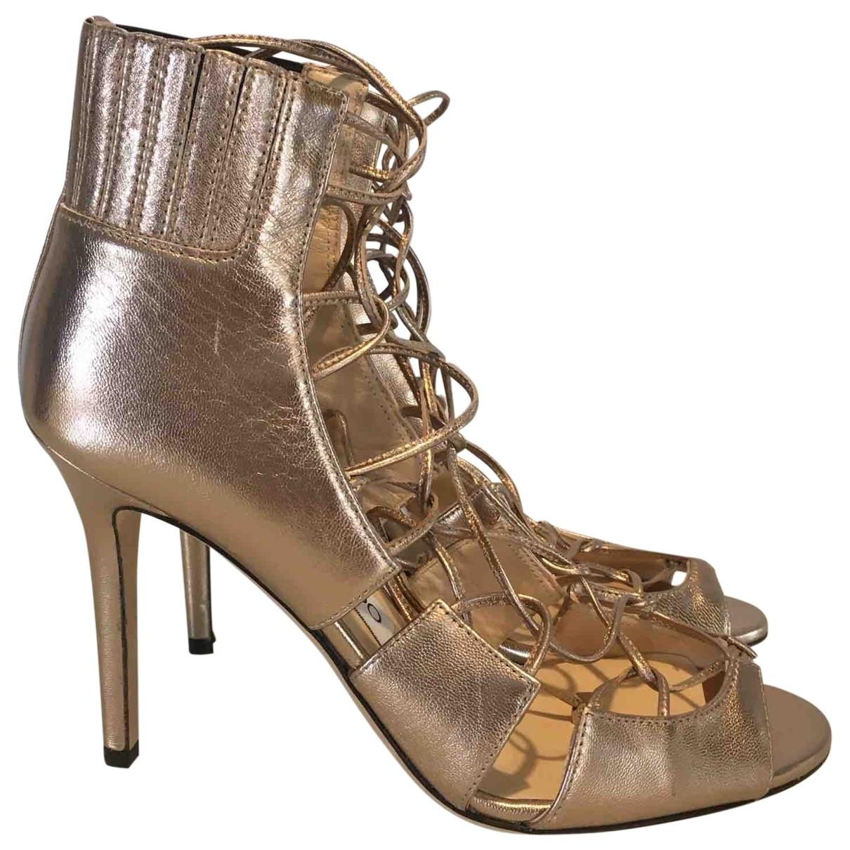 Jimmy Choo \N Gold Leather Sandals for Women 36 EU