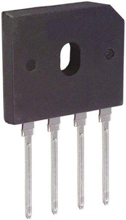 DiodesZetex Diodes Inc GBU606, Bridge Rectifier, 6A 600V, 4-Pin GBU (5)