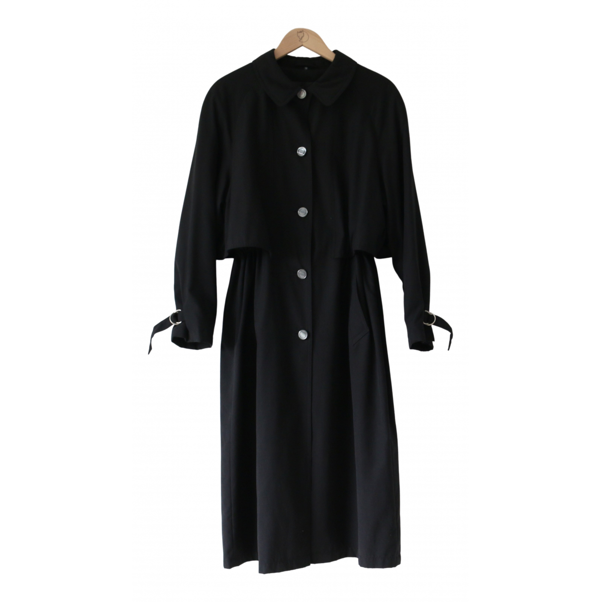 Non Signé / Unsigned \N Black Trench coat for Women One Size International