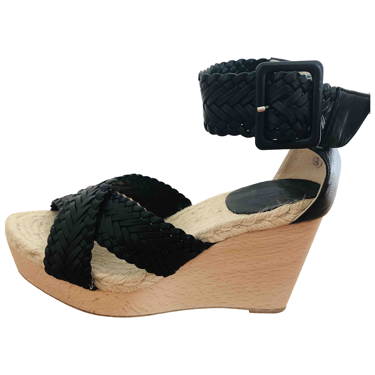 Hermès \N Black Leather Sandals for Women 37 EU