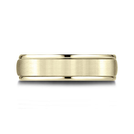 Mens 10K Yellow Gold 6mm Band, 10 1/2 , No Color Family