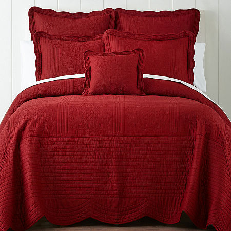 Home Expressions Everly Bedspread, One Size , Red