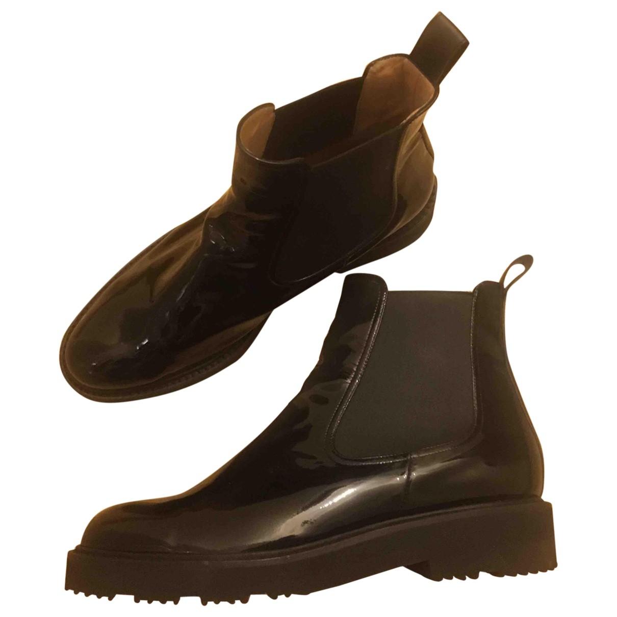 Dear Frances \N Black Patent leather Ankle boots for Women 39 EU