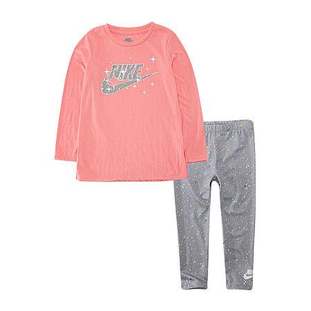 Nike Toddler Girls 2-pc. Legging Set, 3t , Gray