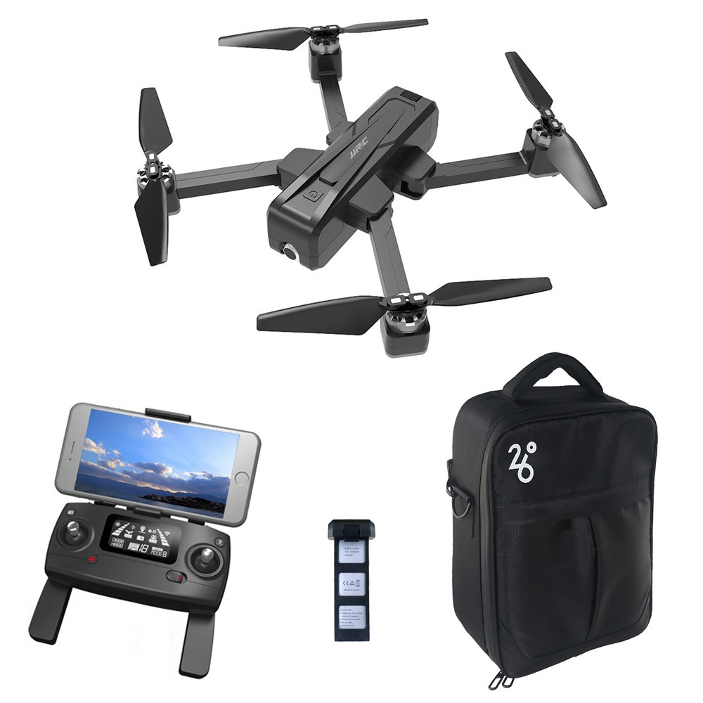 JJRC X11 2K 5G WIFI FPV GPS Foldable RC Drone With Single-axis Gimbal Follow Me Mode RTF - Two Batteries with Bag