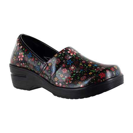 Easy Works By Easy Street Womens Laurie Round Toe Slip-On Shoe, 9 1/2 Wide, Multiple Colors