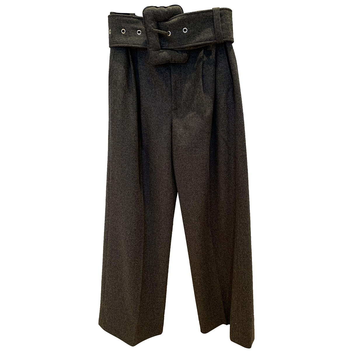Celine \N Grey Wool Trousers for Women 40 FR