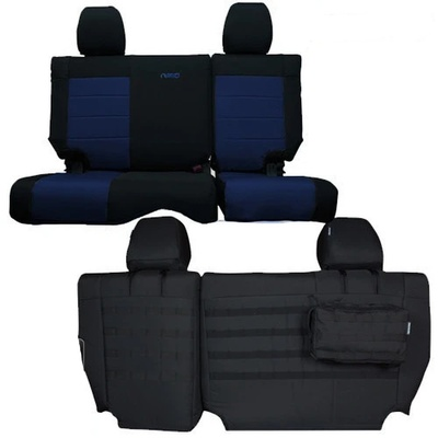 Bartact Tactical Series Seat Cover - Rear Bench (Black/Navy) - JKSC1112R4BT