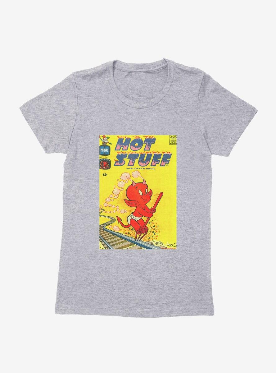 Hot Stuff The Little Devil Railroad Comic Cover Womens T-Shirt