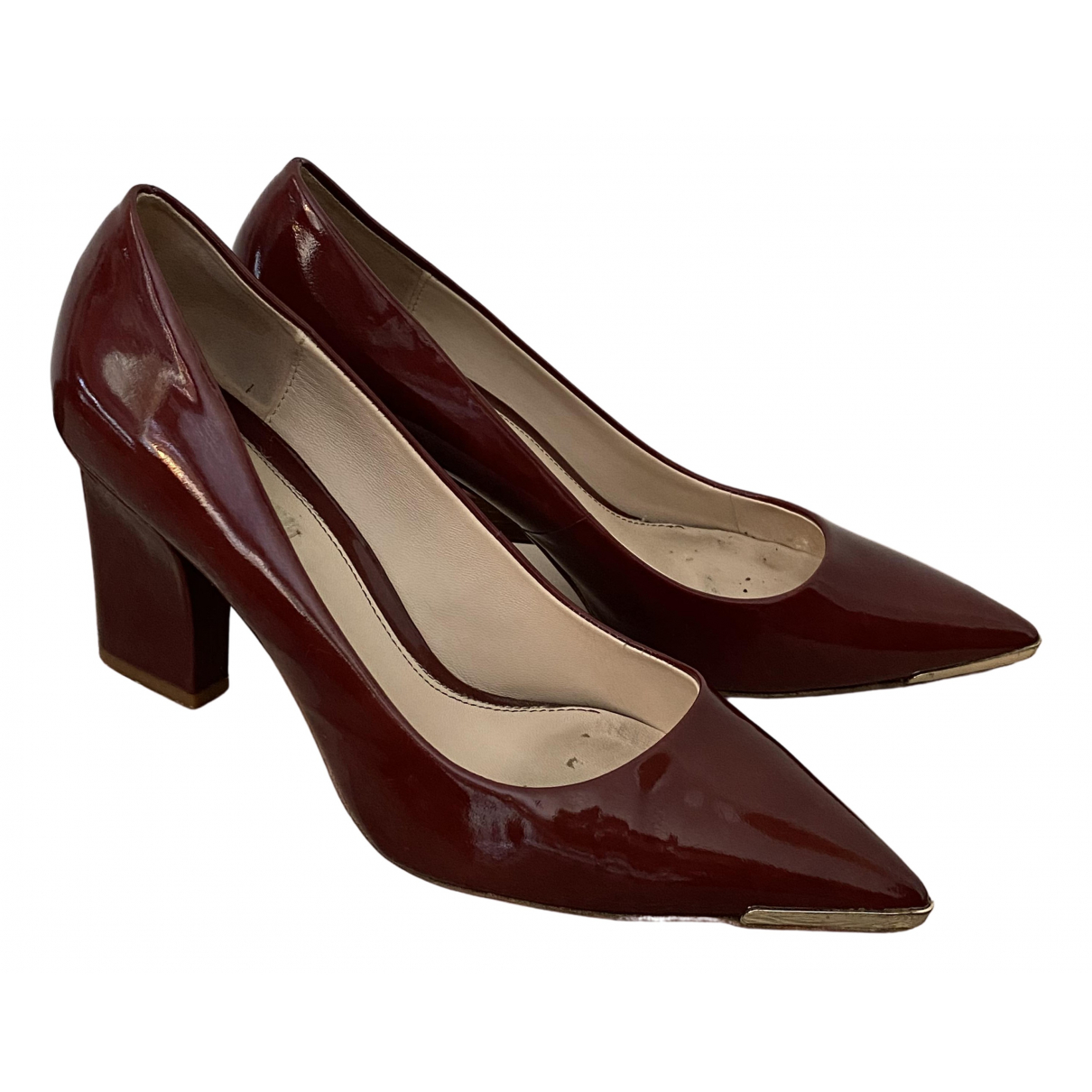 Uterque \N Burgundy Patent leather Heels for Women 41 EU