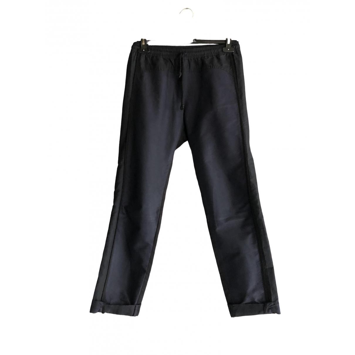 Dries Van Noten \N Navy Cotton Trousers for Men S International