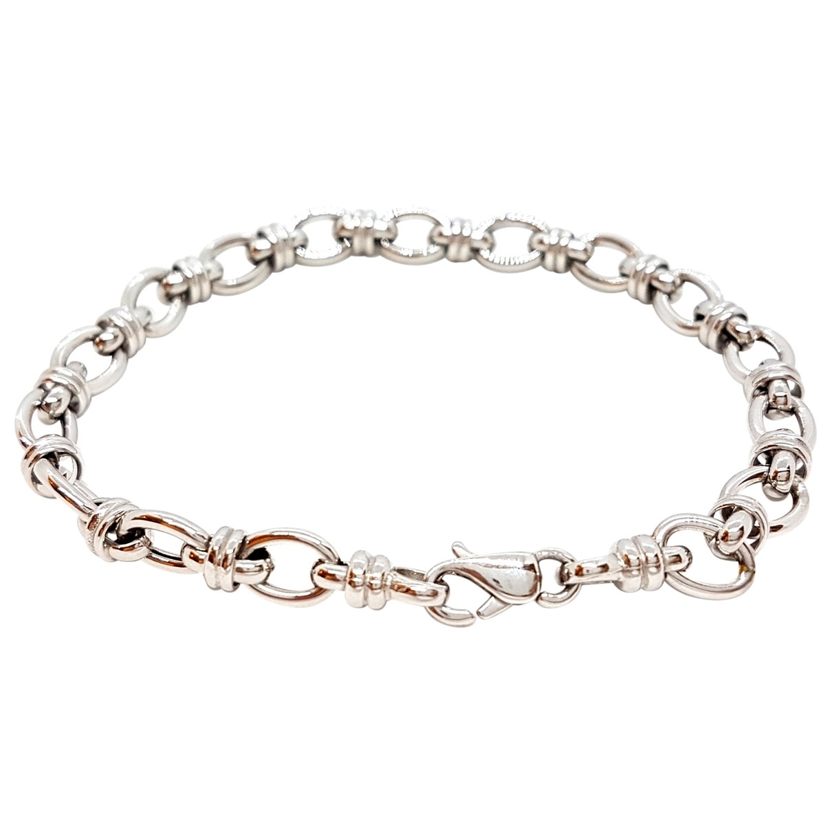 Non Signé / Unsigned \N Silver White gold bracelet for Women \N