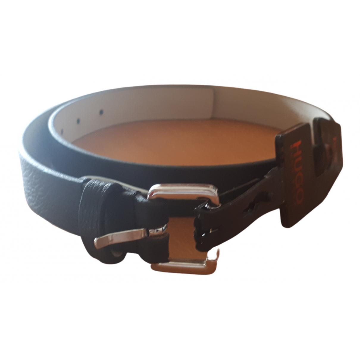 Hugo Boss \N Black Leather belt for Women 70 cm