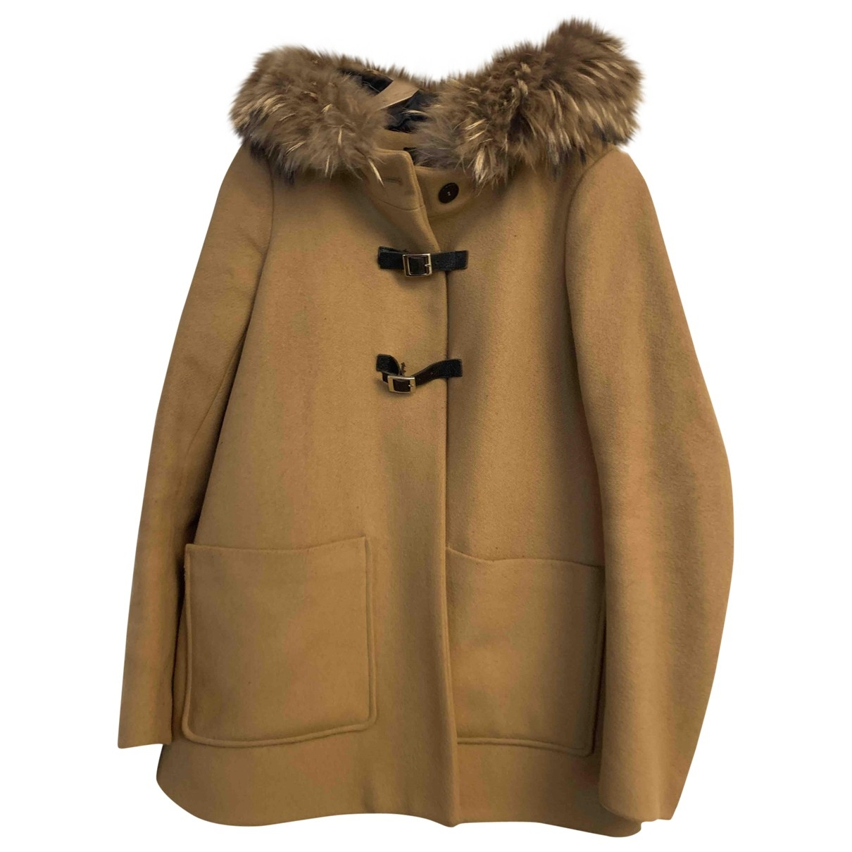 Maje \N Camel Wool coat for Women 40 FR
