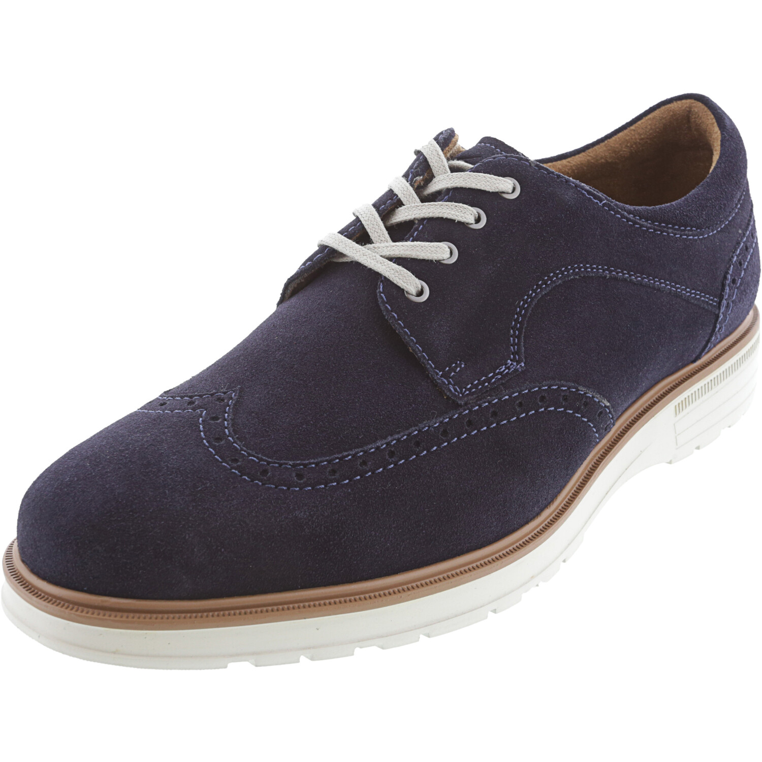 Florsheim Men's Astor Wing Ox Navy Ankle-High Leather Oxford - 10.5W