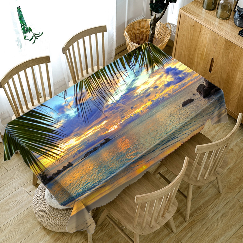European Style Waterproof Home Use 3D Tablecloth