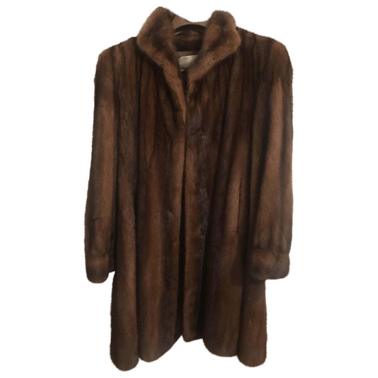 Sprung Frères \N Brown Mink coat for Women 38 FR