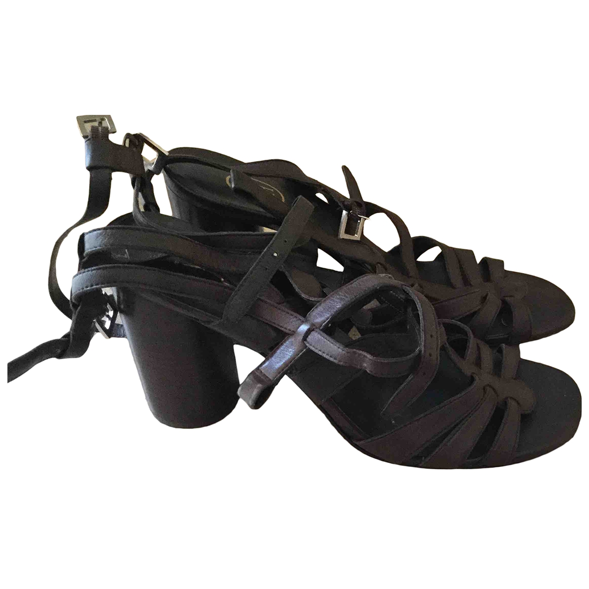Ash \N Brown Leather Sandals for Women 39 EU