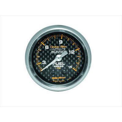 Auto Meter Carbon Fiber Mechanical Fuel Pressure Gauge - 4711