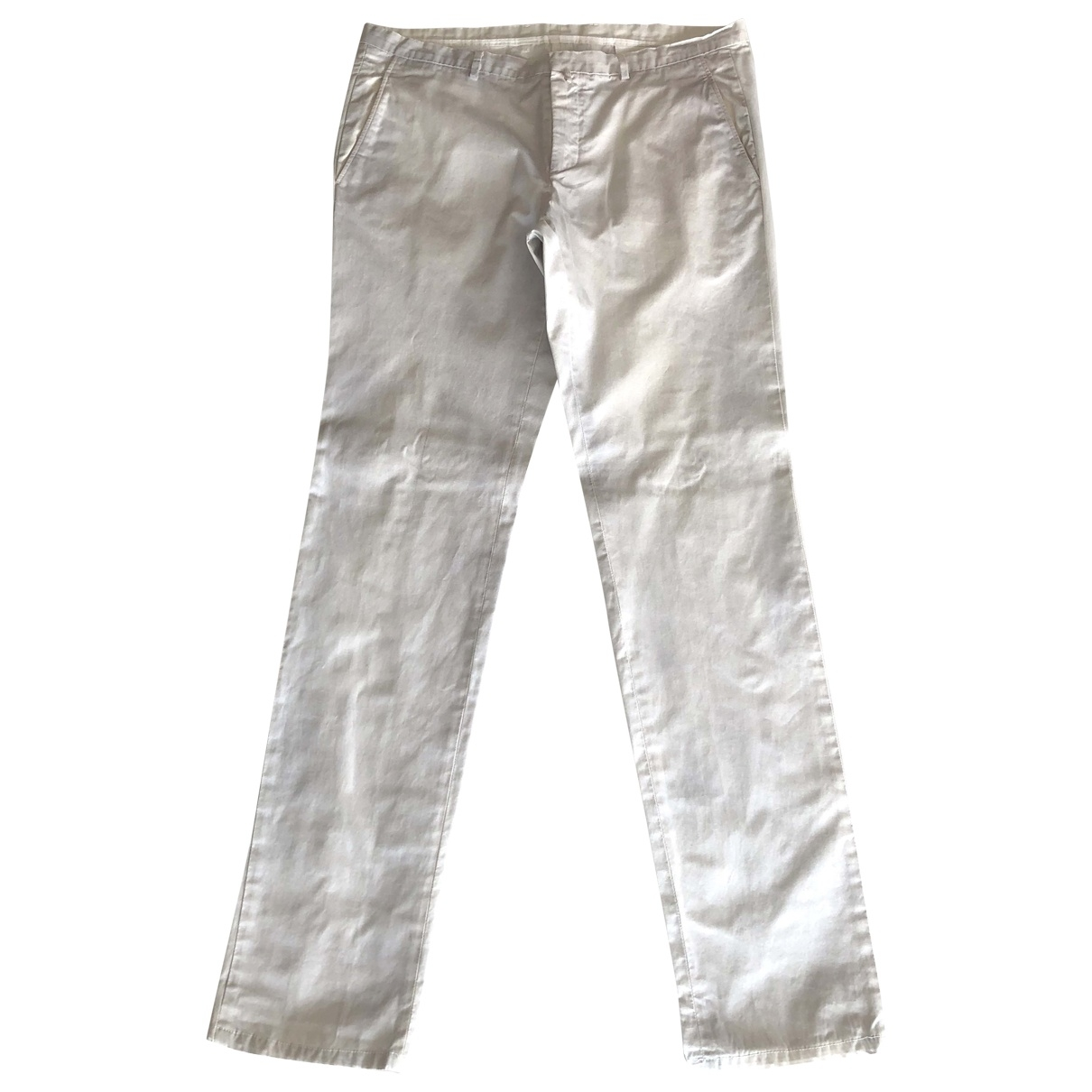Jil Sander \N White Cotton Trousers for Men 50 IT