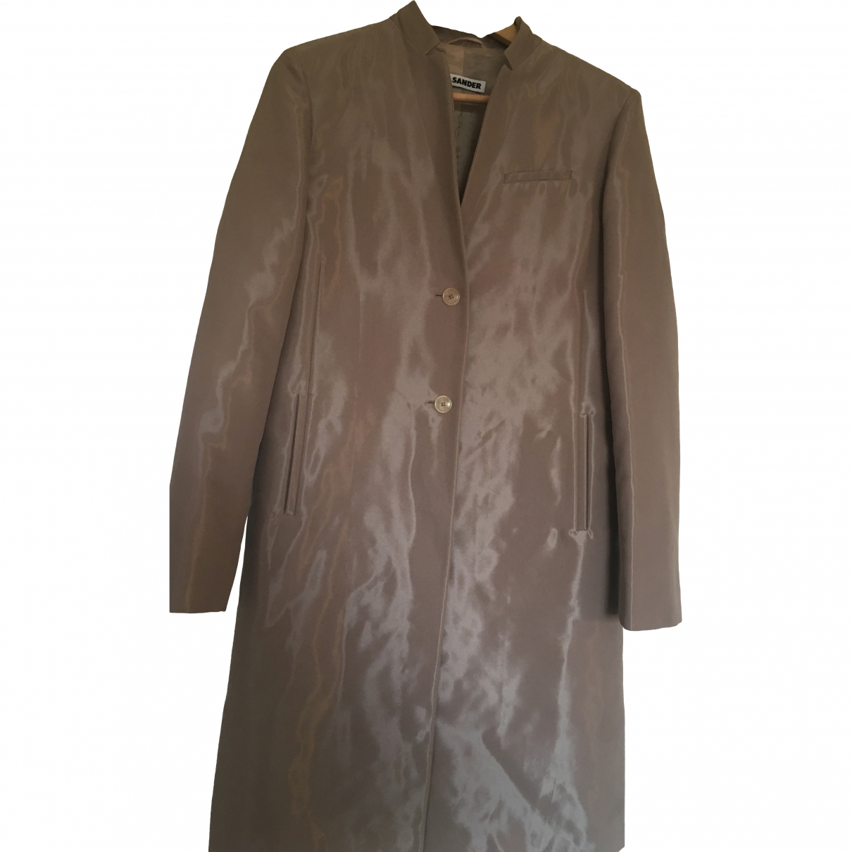 Jil Sander \N Beige Cotton coat for Women 38 FR