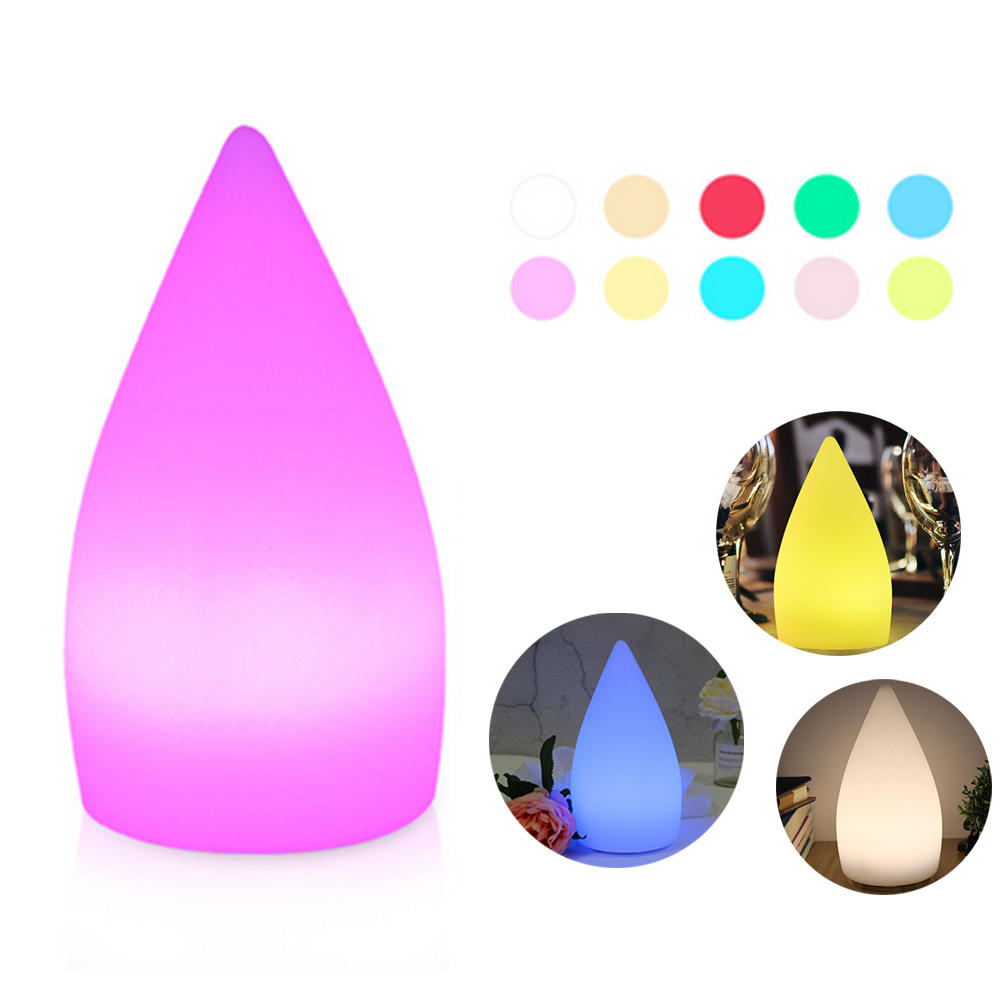 Rechargeable Colorful LED WiFi APP Control Night Light Smart Water Drop Shape Table Lamp Compatible with Alexa Google Ho