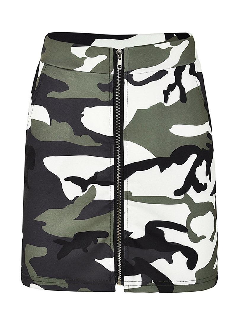 Ericdress A-Line Camouflage Print Women's Skirt