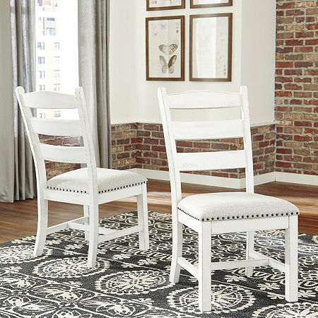 Signature Design by Ashley Valdine Collection 2-pc. Side Chair, One Size , White