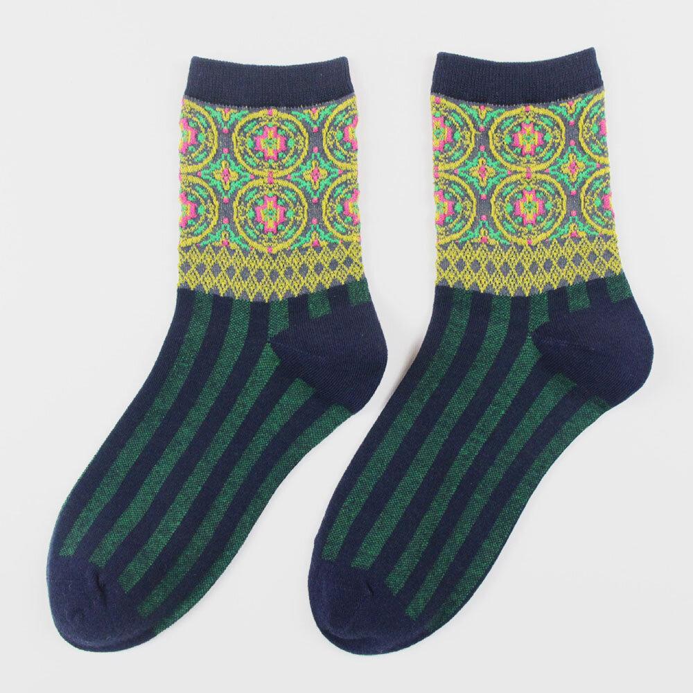 British Style Retro Socks European And American Personality Striped Cotton Socks Fashion Ins Forest Socks Tide Socks