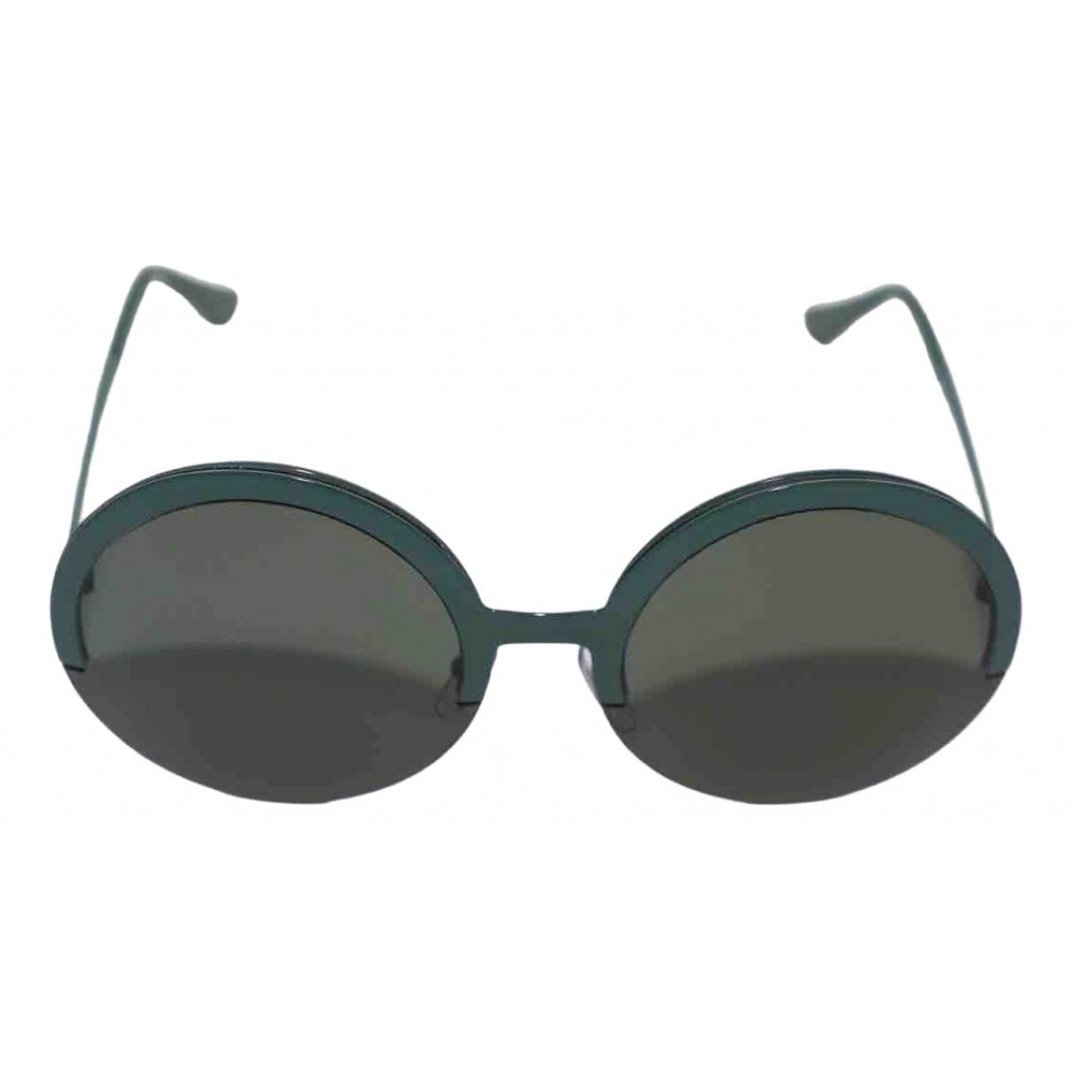 Marni \N Green Metal Sunglasses for Women \N