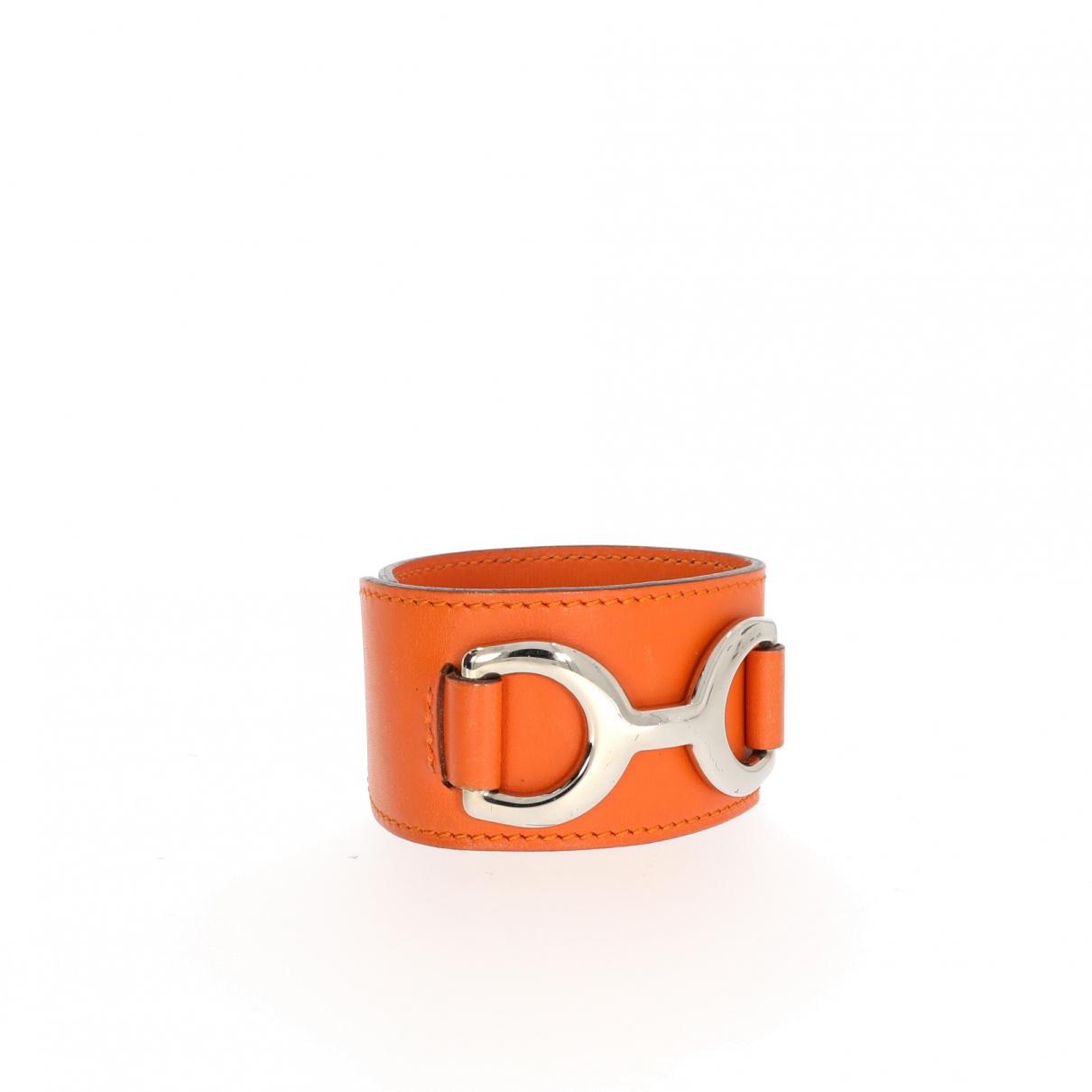 Hermès \N Orange Leather bracelet for Women \N