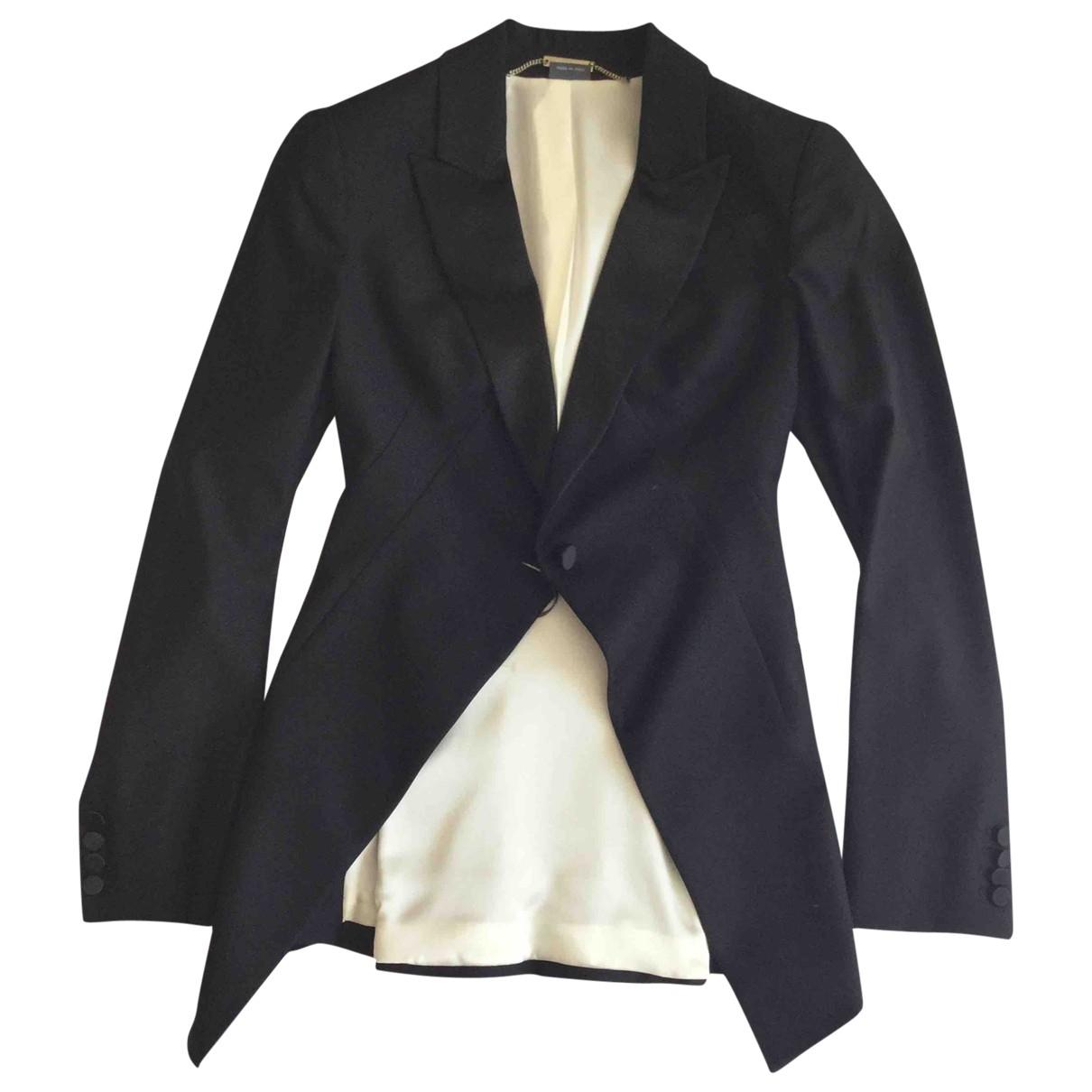 Alexander Mcqueen \N Black Wool jacket for Women 40 IT