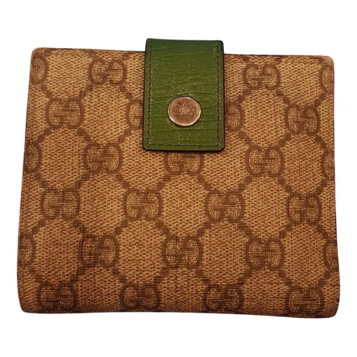 Gucci \N Beige Cloth wallet for Women \N