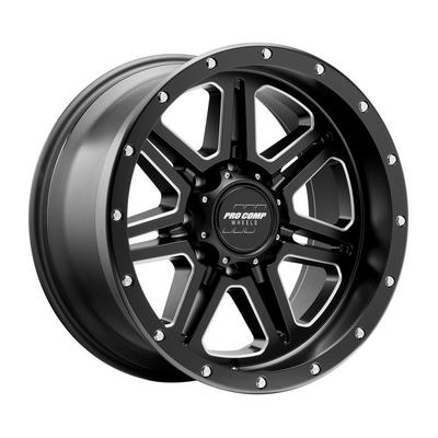 Pro Comp 62 Series Apex, 20x10 Wheel with 8x6.5 Bolt Pattern - Satin Black Milled - 5162-218247