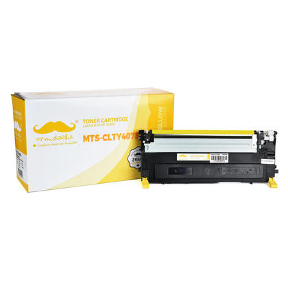 Compatible Samsung CLX-3185FN Yellow Toner Cartridge - Moustache